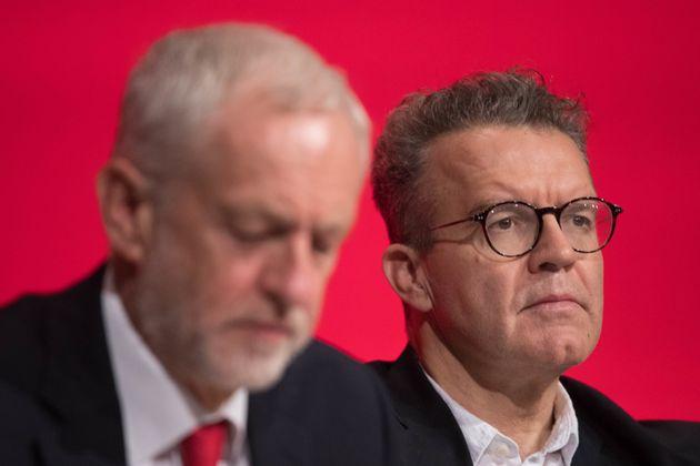 Labour leader Jeremy Corbyn (left) and deputy leader Tom