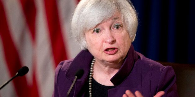 FILE - In this June 17, 2015, file photo, Federal Reserve Chair Janet Yellen speaks during a news conference...
