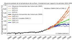 Le réchauffement climatique dépassera les 2°C en 2040, selon les prévisions françaises,