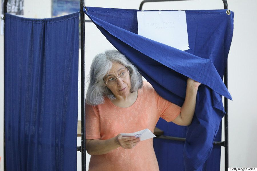 [화보] 그리스 국민투표 개시 : YES or