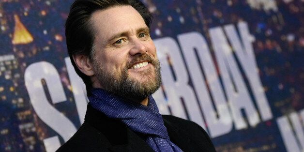 Jim Carrey attends the SNL 40th Anniversary Special at Rockefeller Plaza on Sunday, Feb. 15, 2015, in...