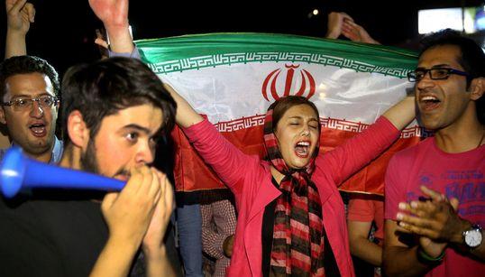 [화보] 핵협상 타결을 환영하는 이란