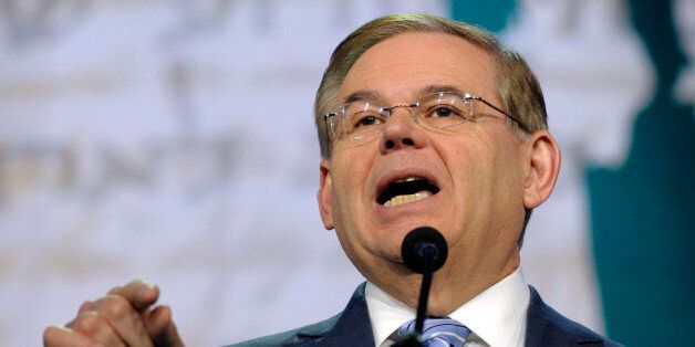 FILE - In this March 5, 2013 file photo, Senate Foreign Relations Committee Chairman Sen. Robert Menendez,...