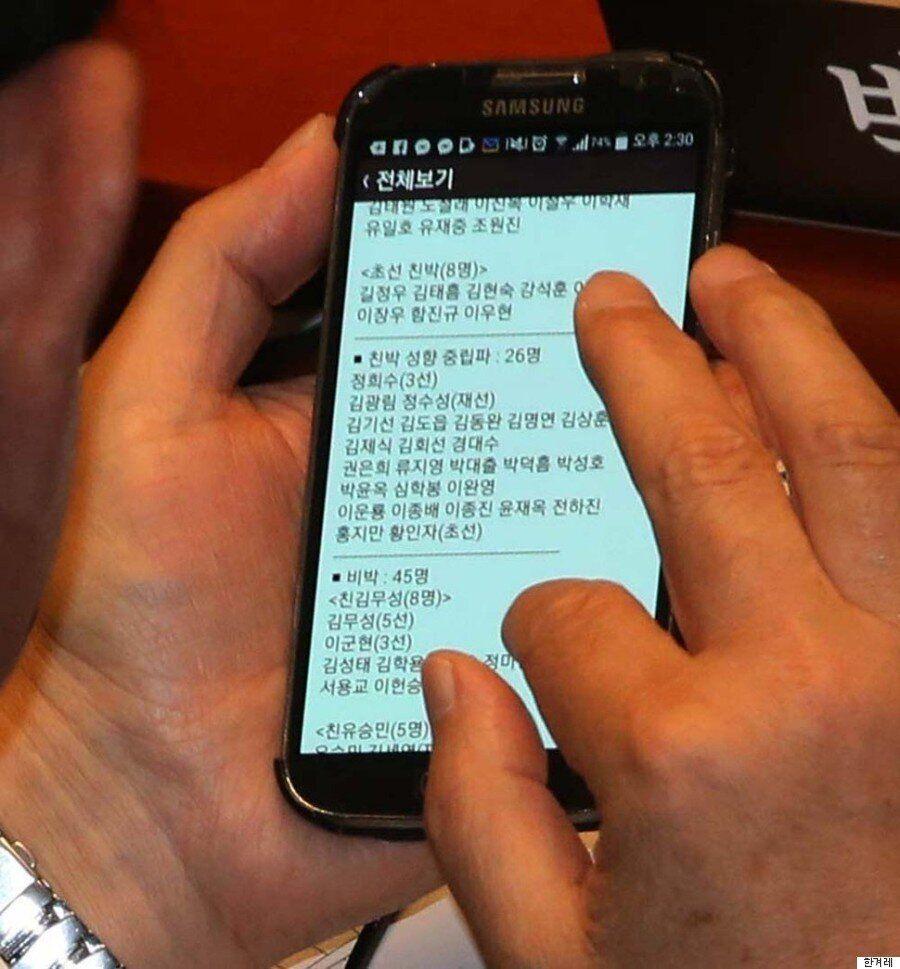 [포토] 카메라에 잡힌 새누리당 '친박·비박 성향 분석'