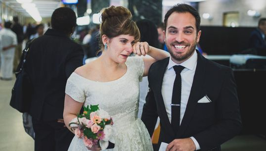 시청 결혼식은 소박하지만 너무 사랑스럽다(화보