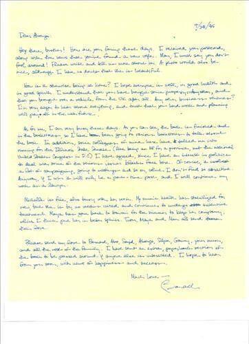오바마는 20년 전, 케냐의 이복형에게 이런 편지를