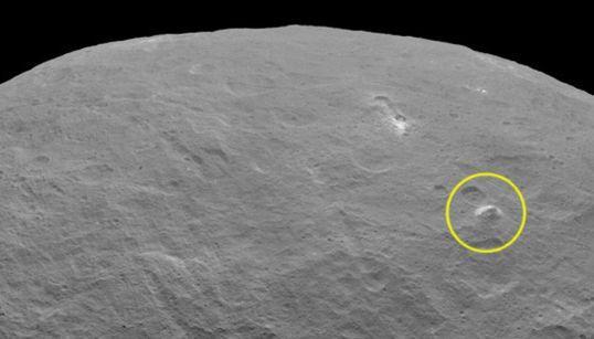 미스터리의 왜행성 세레스에서 5km 높이의 피라미드 산이 발견되다(사진,