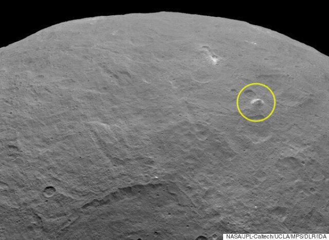 왜행성 세레스에서 이번에는 5km 높이의 피라미드 산이 발견되다(사진,