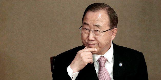 U.N. Secretary-General Ban Ki-moon attends the U.N. Academic Impact Seoul Forum in Seoul, South Korea,...