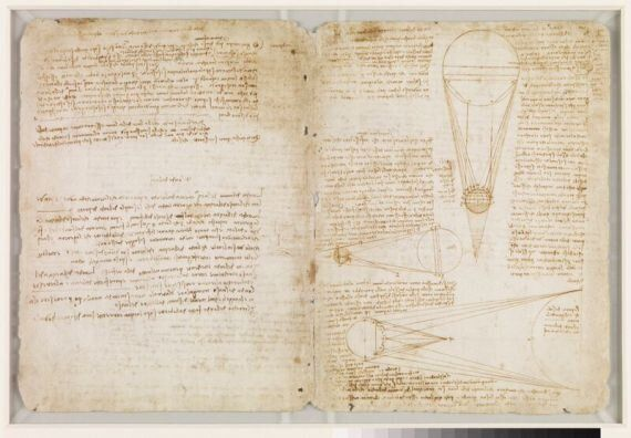레스터 사본에 숨져진 레오나르도 다빈치의