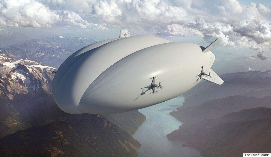 록히드마틴의 비행선 '하이브리드 에어쉽'이 2018년부터 판매된다(화보,