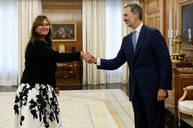 El rey Felipe VI recibe en audiencia a la portavoz de Junts per Catalunya (JxCat) en el Congreso, Laura