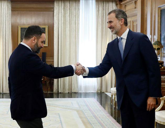 El rey Felipe VI recibe en audiencia al líder de Vox Santiago