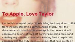 애플의 '공짜' 스트리밍을 막은 테일러 스위프트의 아름다운