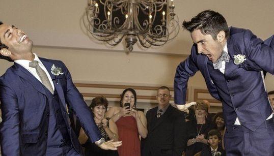 우연히 찍힌 결혼식 사진 '베스트 B컷'