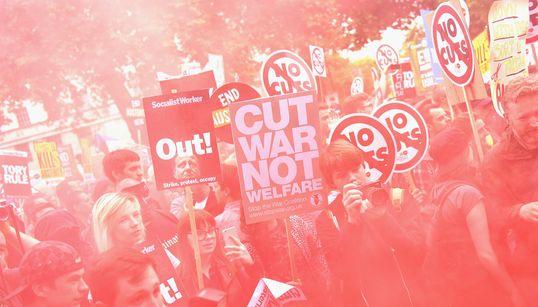 [화보] 영국 긴축 반대 대규모 시위의