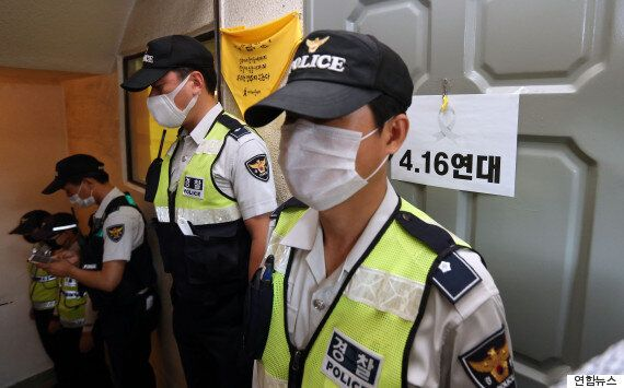 경찰, 세월호 '불법집회' 주도혐의 전격