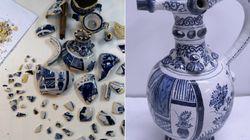 영국의 한 박물관이 진열품을 깬 소년을 찾는
