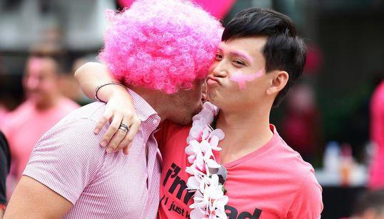 싱가포르 LGBT 인권 지지 행사 '핑크 도트'에 역대 최대 인원이