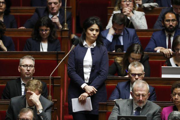 Sonia Krimi, députée LREM de la Manche, dans l'hémicycle de l'Assemblée nationale,