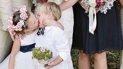 엄마 결혼식의 하이라이트를 훔친 4세 소녀의