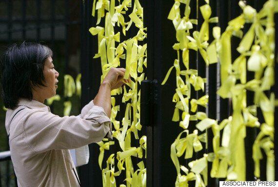 중국을 뒤덮은 애도의 노란
