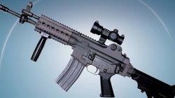 한국산 K-2C 소총 쓰는