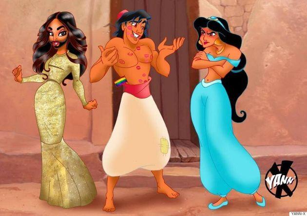 디즈니의 왕자님을 게이로 바꾼