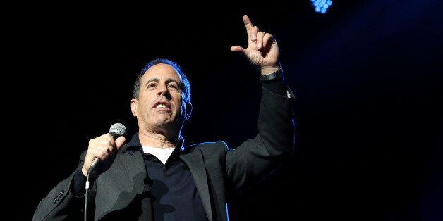 Comedian Jerry Seinfeld performs at the Stand Up for Heroes event at Madison Square Garden, Wednesday,...