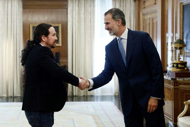 El rey Felipe VI recibe en audiencia al líder de Unidas Podemos Pablo