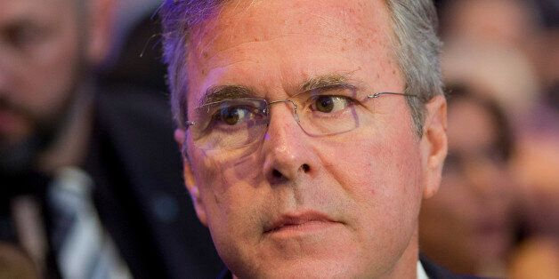 Former US Governor Jeb Bush arrives for the Economic Council in Berlin, Germany, Tuesday, June 9, 2015....