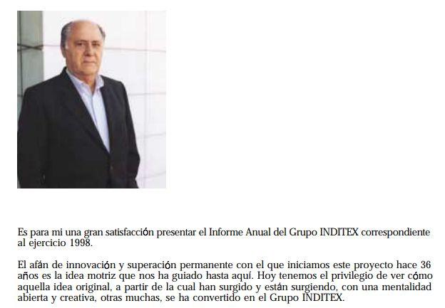 La primera imagen de Amancio Ortega en 1999.