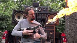 '매드맥스'의 화염방사기 기타를 직접 만든