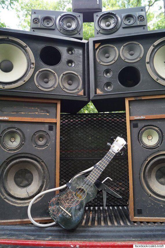 '매드맥스 : 분노의 도로'의 화염방사기 기타를 직접 만든