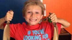 8세 소년, 머리카락을 기부하기 위해 2년간 괴롭힘을