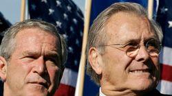 럼즈펠드, 생뚱맞게 '이라크 전쟁' 책임을