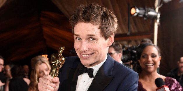 "Eddie Redmayne, winner of the award for best actor in a leading role for ""The Theory of Everything"",..."