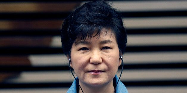 South Korea's President Park Geun-hye attends a meeting with the business community at the Sao Paulo...