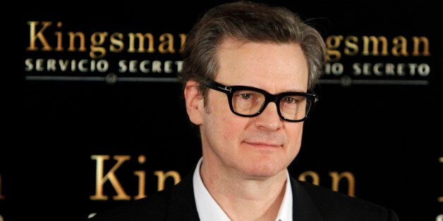 British actor Colin Firth poses for photographers during the presentation of the film: 'Kingsman: The...