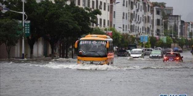 중국 남부 '물난리'에 이재민 300만명...20명