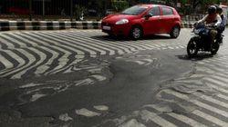 폭염으로 녹아내린 인도의 아스팔트