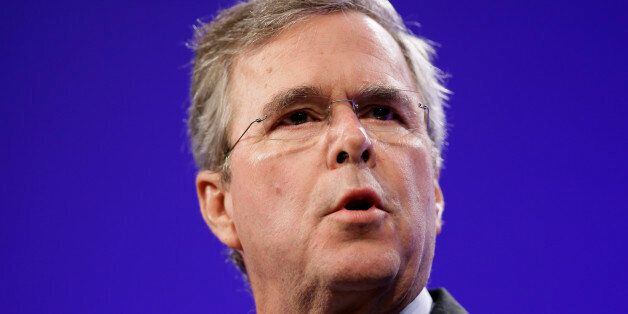 Former Florida Gov. Jeb Bush speaks during the Iowa Republican Party's Lincoln Dinner, Saturday, May...