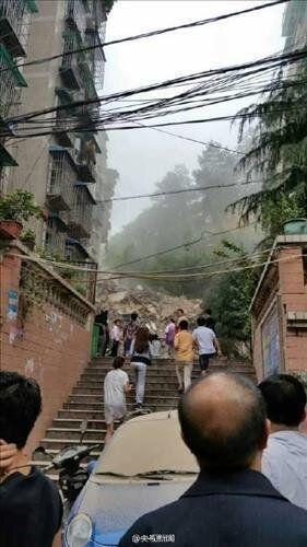 중국서 9층 아파트 붕괴...주민 21명