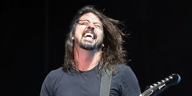 GULF SHORES, AL - MAY 15: Dave Grohl of Foo Fighters performs at Hangout Music Festival 2015 on May 15,...