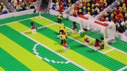 레고로 재현한 축구 하이라이트의 퀄리티