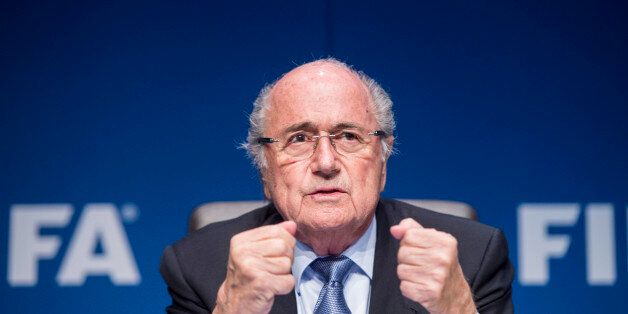 FIFA President Joseph Blatter s attends a news conference following the FIFA Executive Committee meeting...