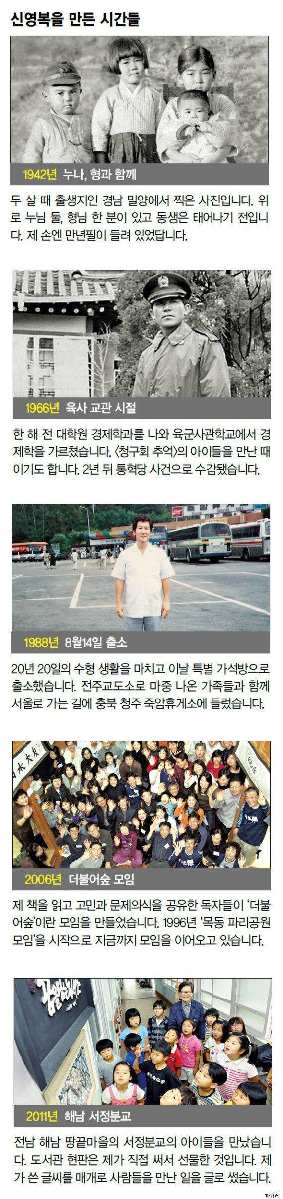 [인터뷰] 신영복의 마지막