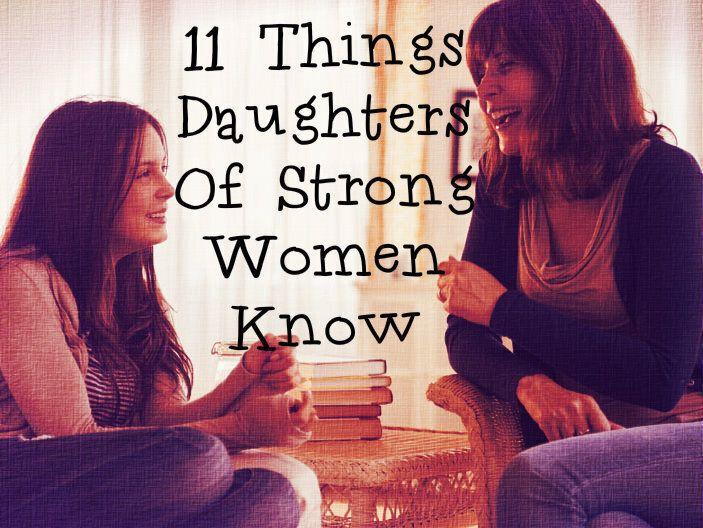 강인한 여성의 딸이라면 이해하는