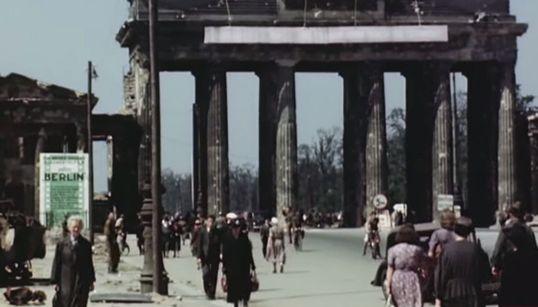 HD 컬러 영상으로 복원된 1945년, 베를린