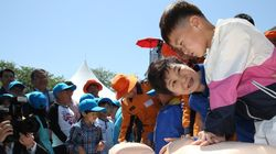 박근혜 대통령이 어린이에게 해준